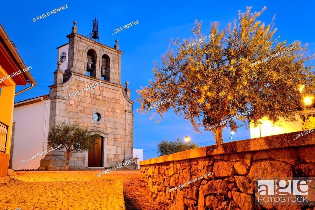 Stock Photo: Church of Sao Pedro de Bemposta, Mogadouro, Portugal.