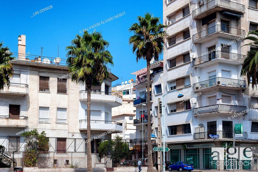Stock Photo: Street Casablanca, Morocco, Africa.
