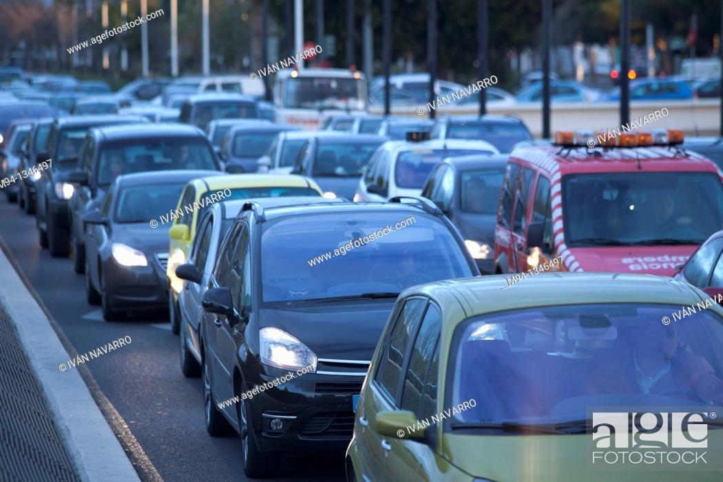 Stock Photo: traffic jam.