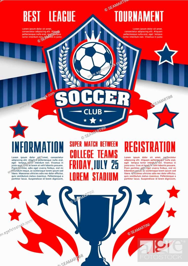 Soccer Sport Club Tournament Of College League Banner Template Stock Vector Vector And Low Budget Royalty Free Image Pic Esy 040905016 Agefotostock