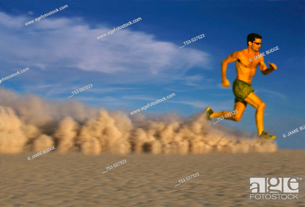Stock Photo: Dust runner.