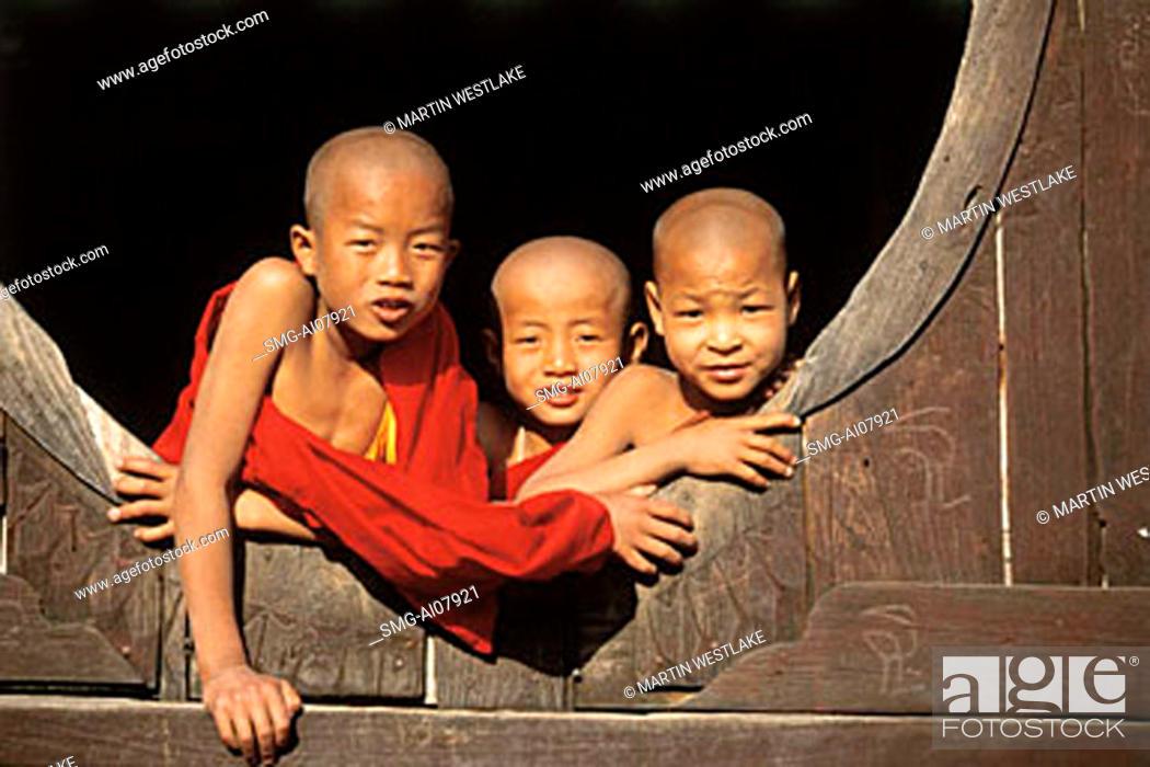 Myanmar (Burma), Inle Lake, Shweyaunghwe Kyaung (monastery