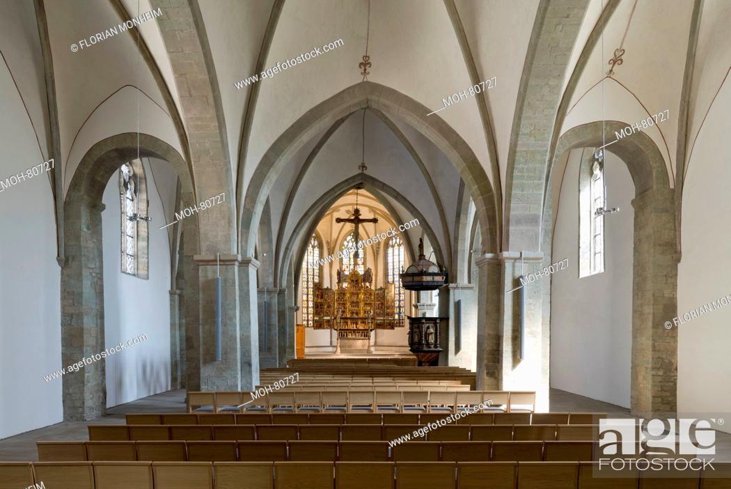 Stock Photo: Schwerte, Kirche St. Viktor, Innenraum nach Osten.
