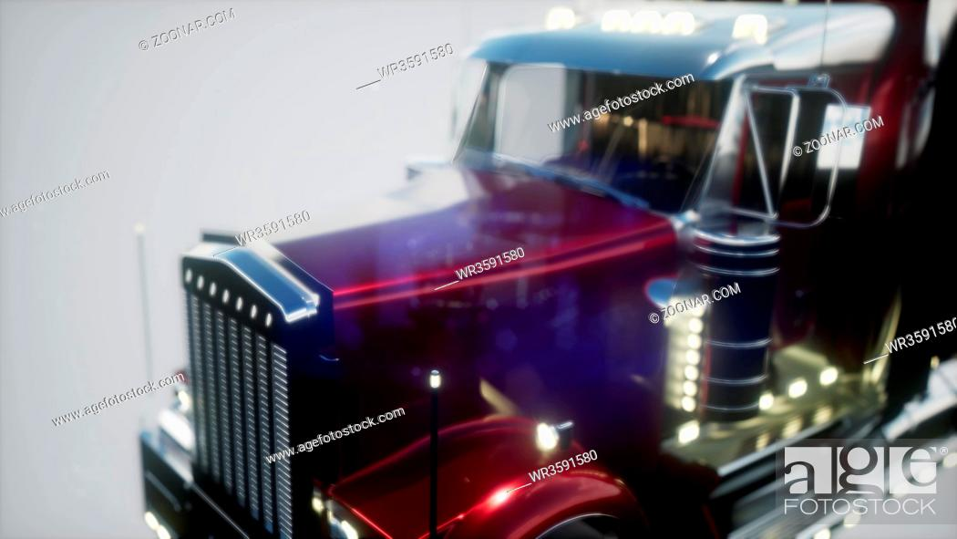Stock Photo: bright american lorry track in studio.