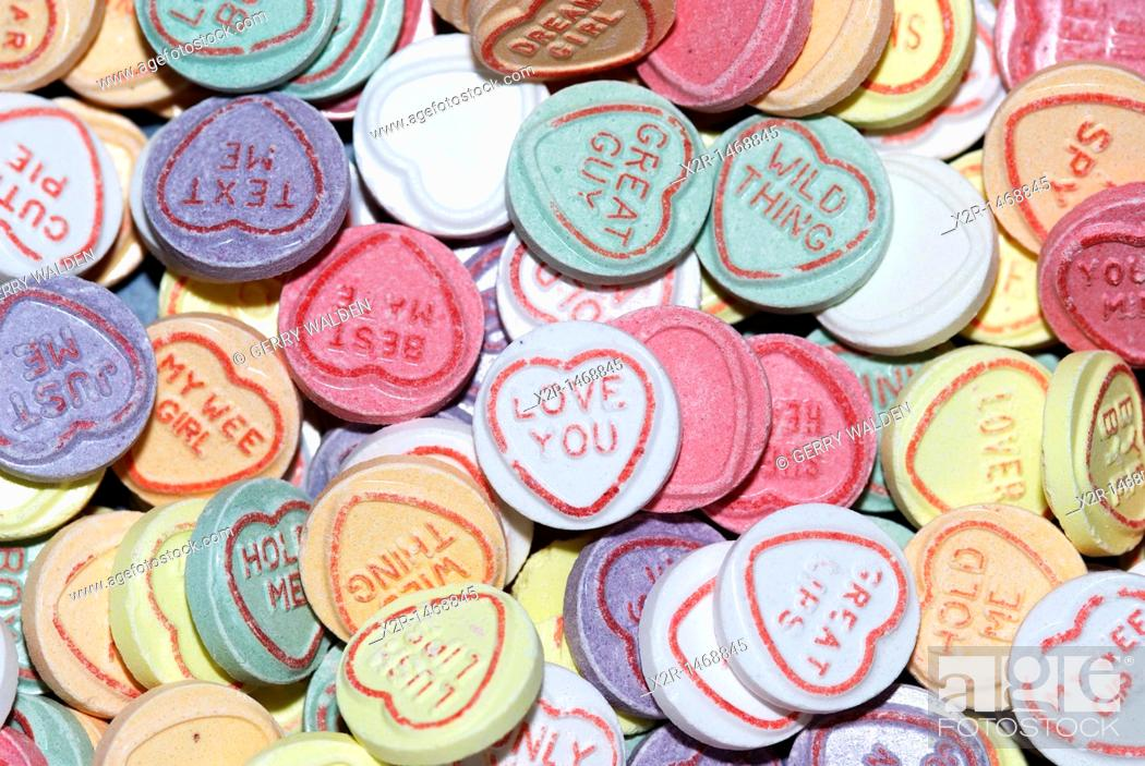 Stock Photo: Love Heart sweets or candies.