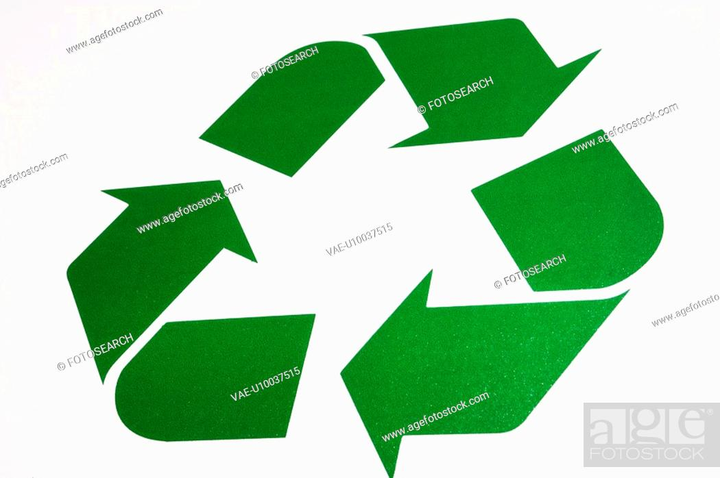 Stock Photo: The recycling symbol.