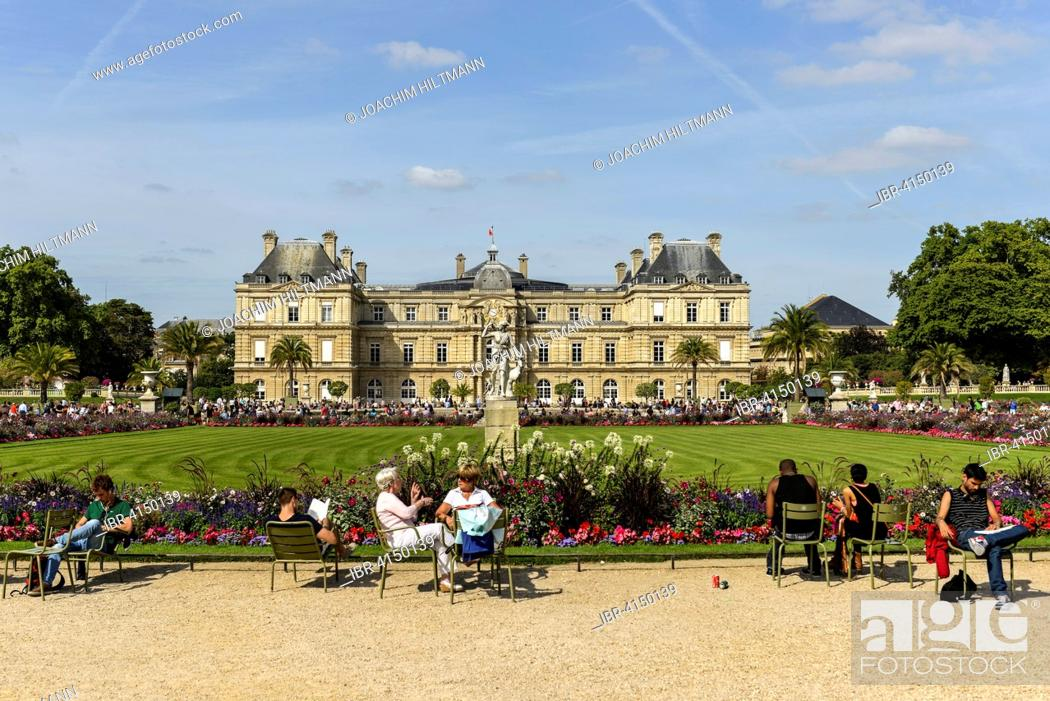 stock photo palais du luxembourg in the jardin du luxembourg paris france - Jardin Du Luxembourg Paris