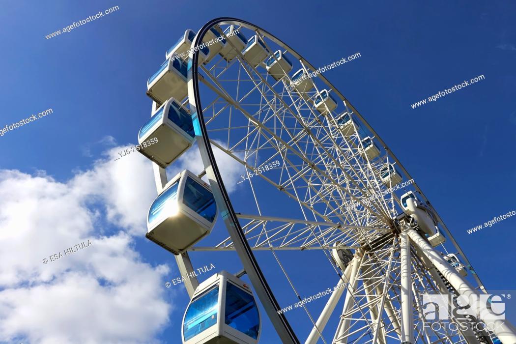Stock Photo: The Finnair Sky Wheel, Katajanokka Helsinki.