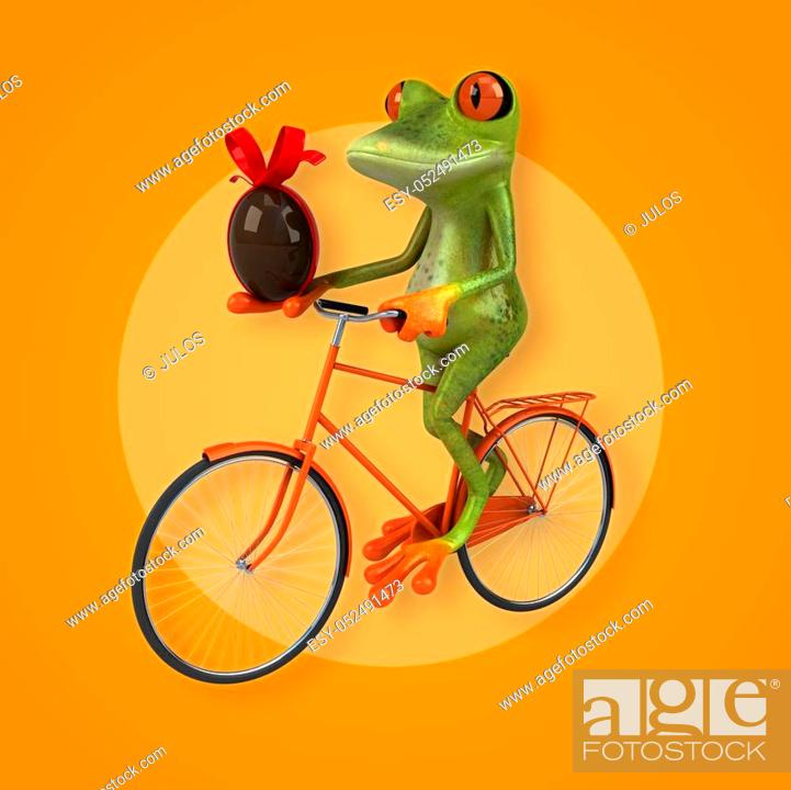Stock Photo: Fun frog.