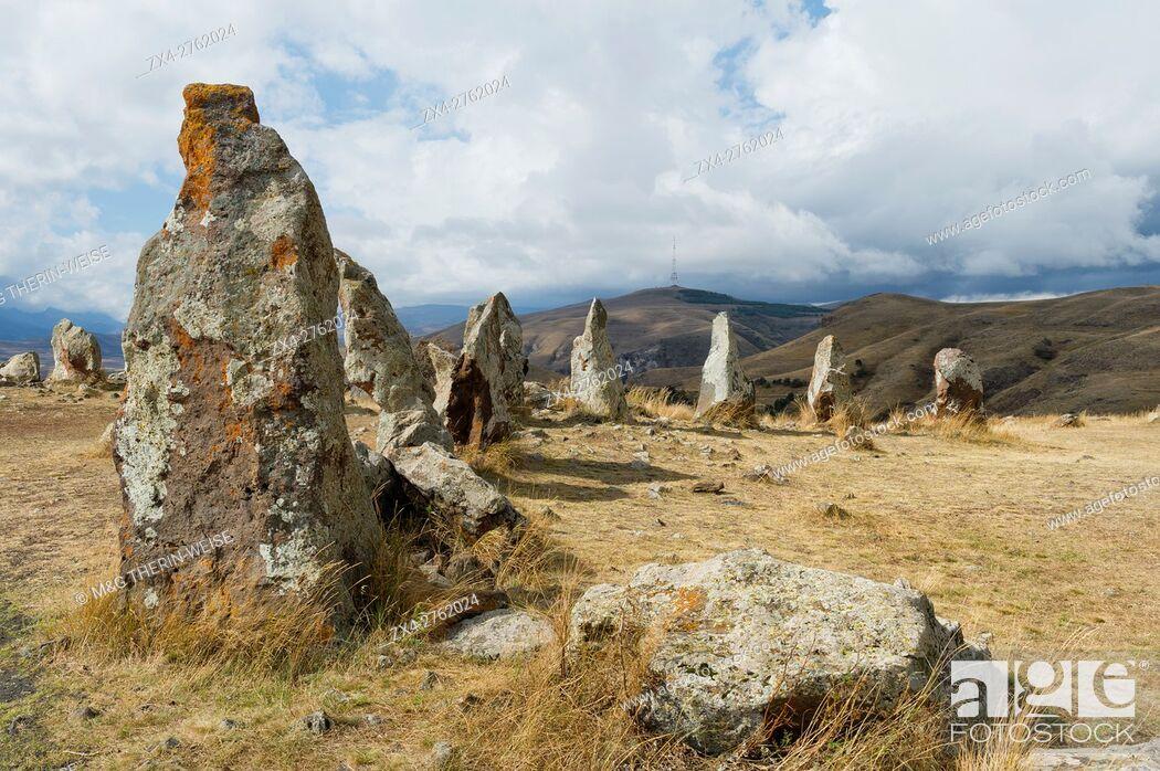 Imagen: Prehistoric archaeological Karer site of Zorats, Sisian, Syunik Province, Armenia, Caucasus, Middle East, Asia.