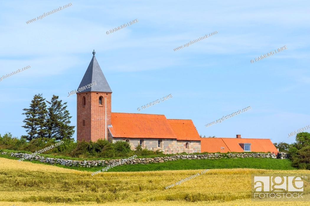 Stock Photo: Ørum Kirke, Thisted Kommune, North Jutland, Denmark.