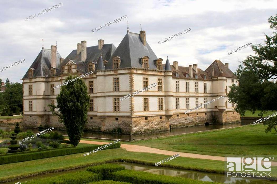 Stock Photo: Chateau de Cormatin.