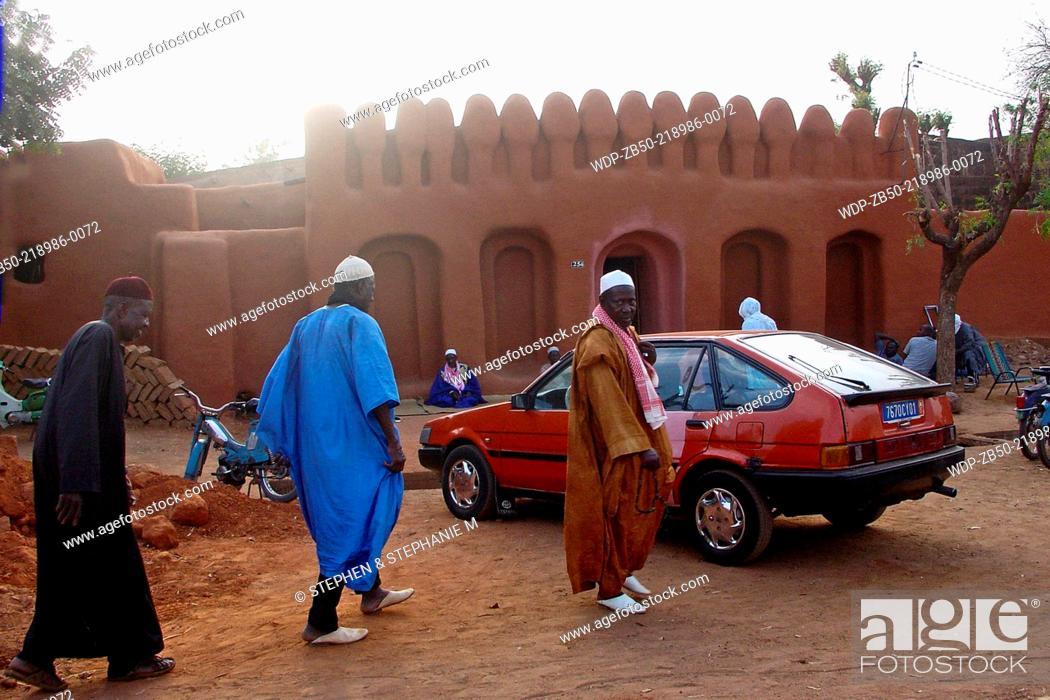 Stock Photo: Men in Segou, Mali.