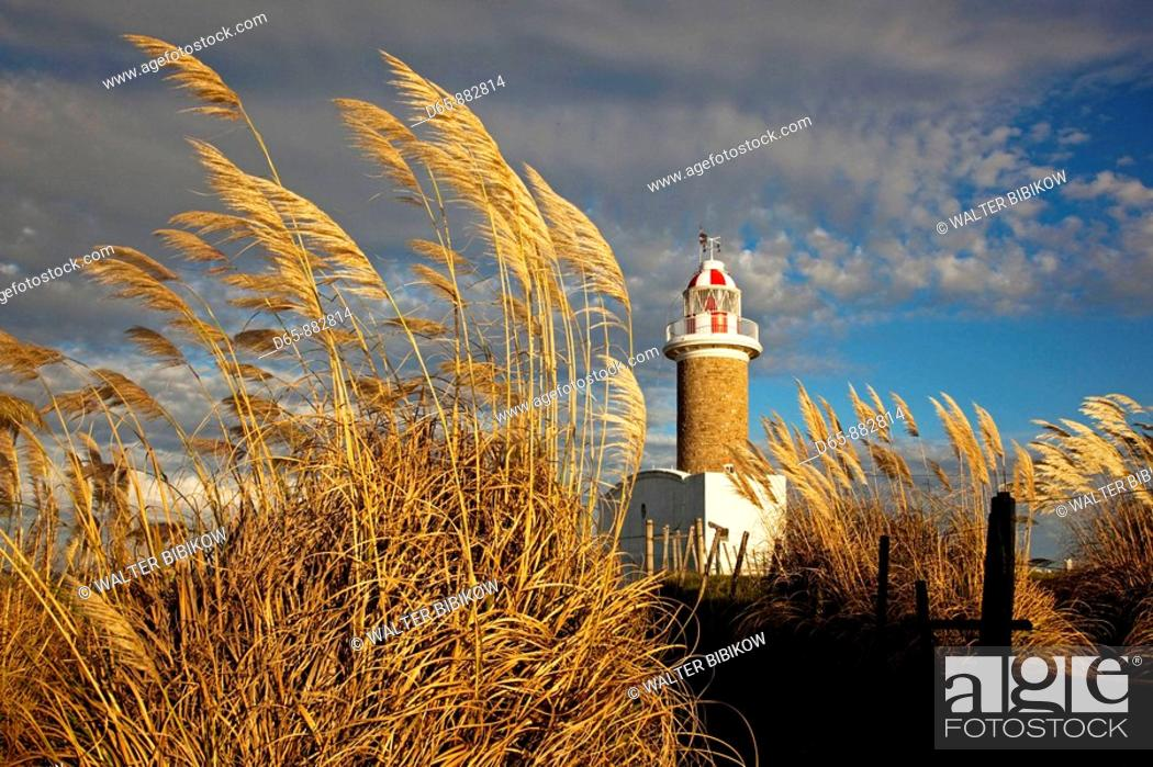 Stock Photo: Punta Brava lighthouse in the morning, Montevideo, Uruguay.