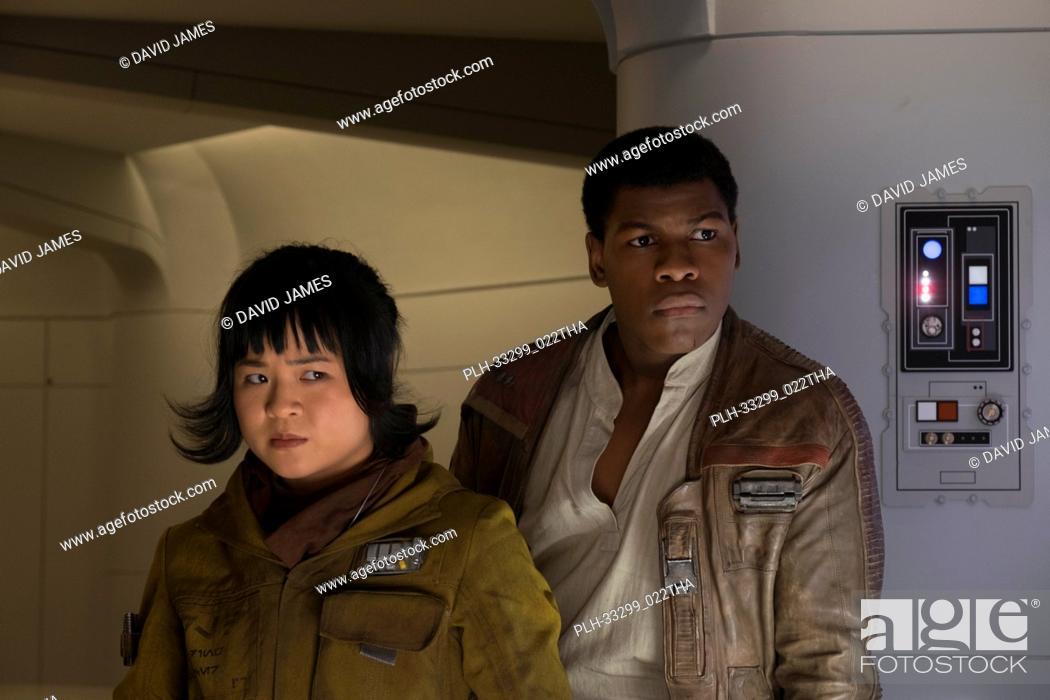 """Stock Photo: L to R: Rose (Kelly Marie Tran) and Finn (John Boyega), """"""""Star Wars: The Last Jedi"""""""" (2017) Lucasfilm Ltd."""