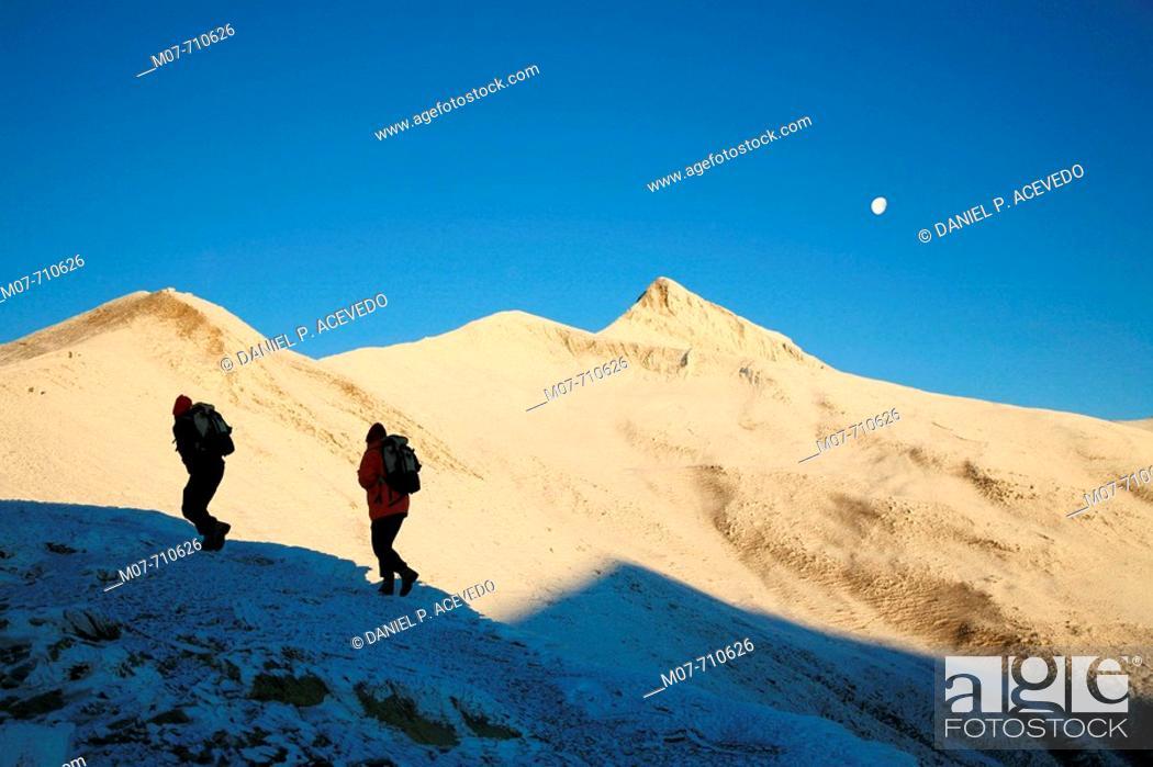 Stock Photo: Pyrenees, climbing up to Ori mountain.