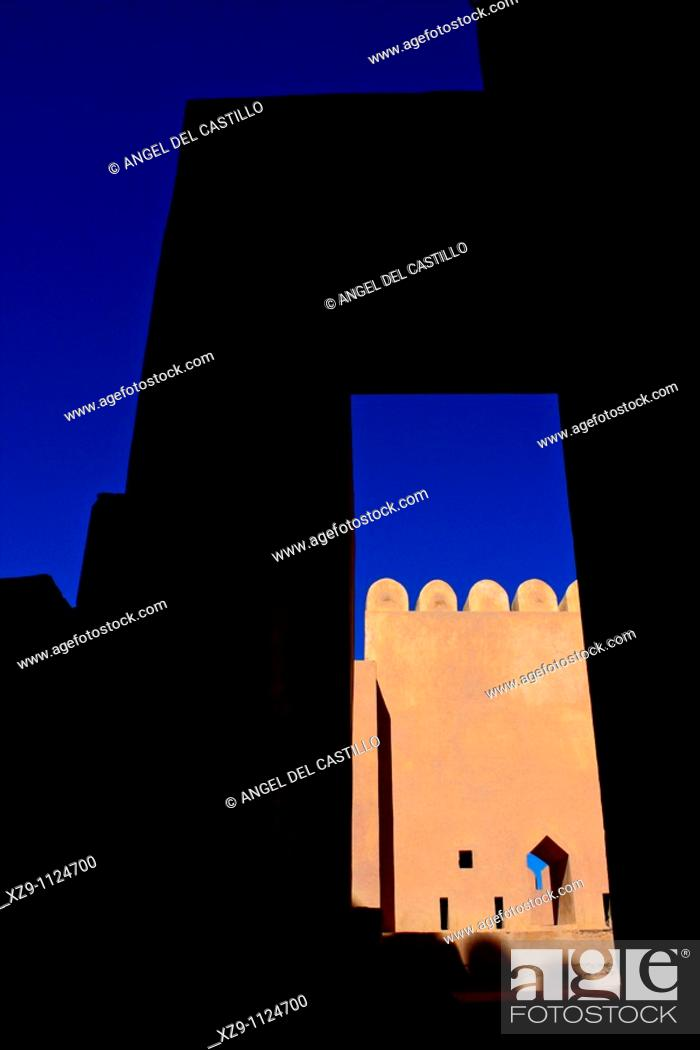Stock Photo: Detail inside Nakhal Fortress in Oman.