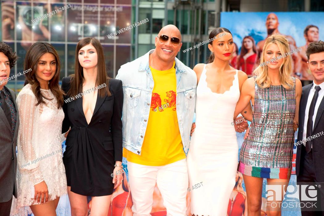priyanka chopra baywatch dwayne johnson