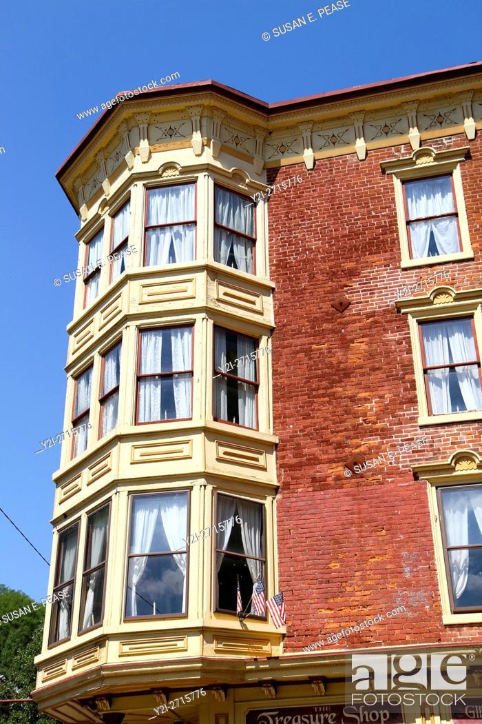 Stock Photo: Architectural details, Jim Thorpe, Pennsylvania, United States, North America.