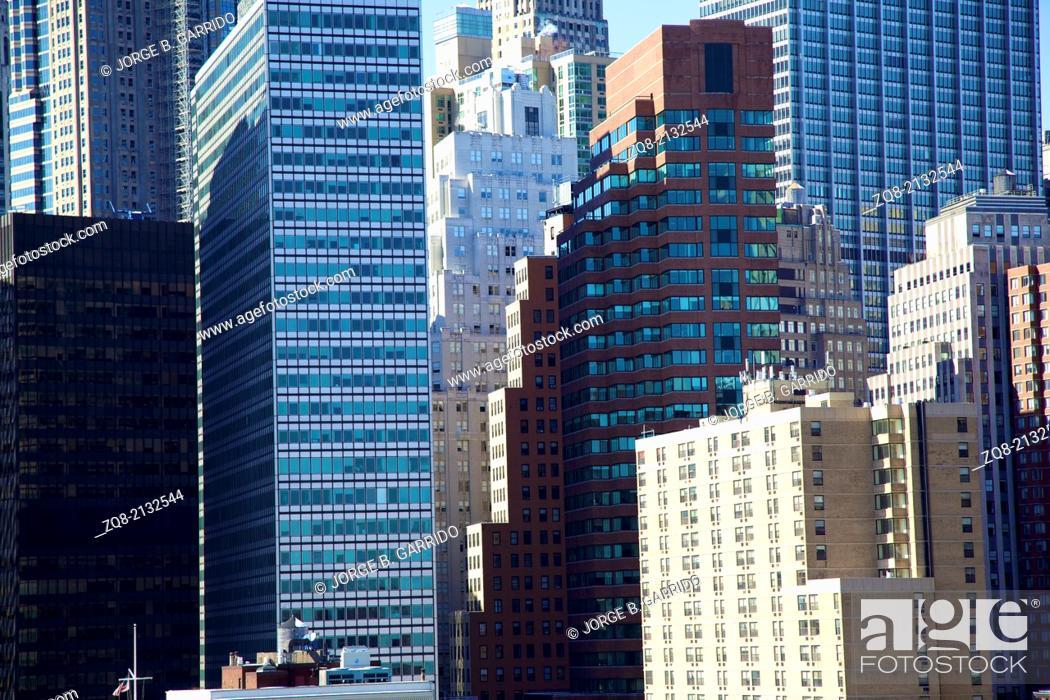 Stock Photo: Skyline of downtown New York.