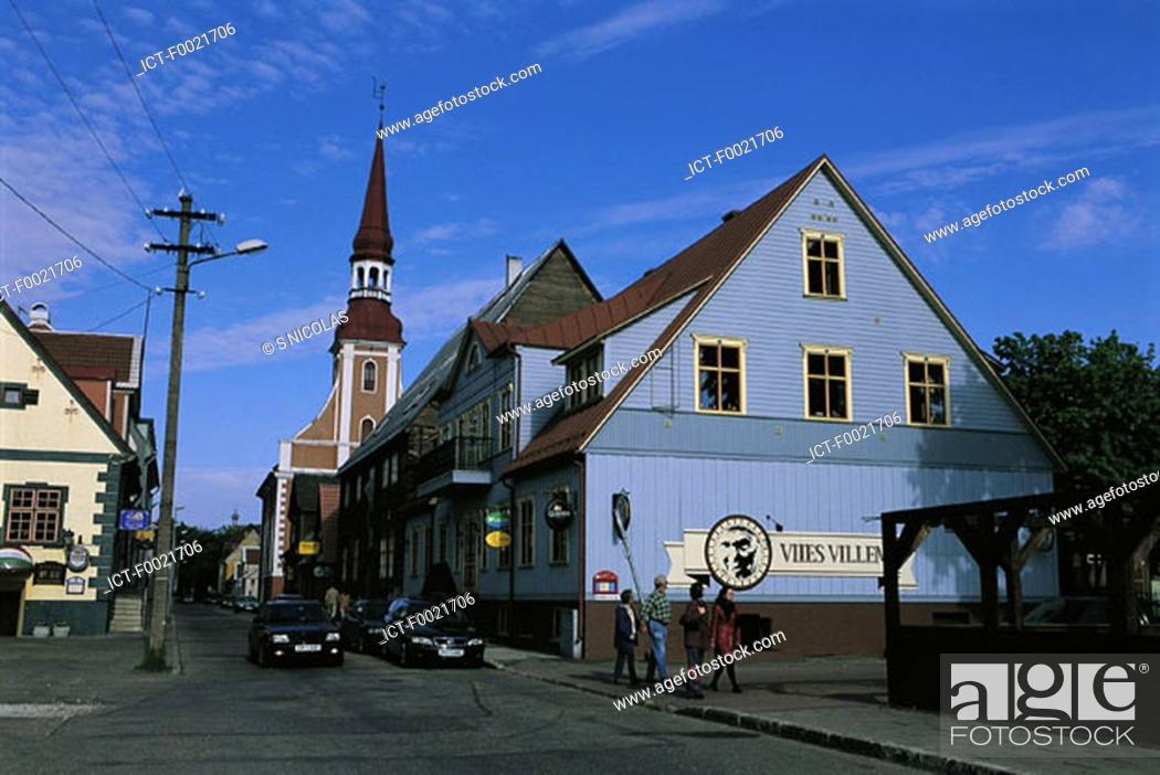 Stock Photo: Estonia, Parnu, Kuninga street.