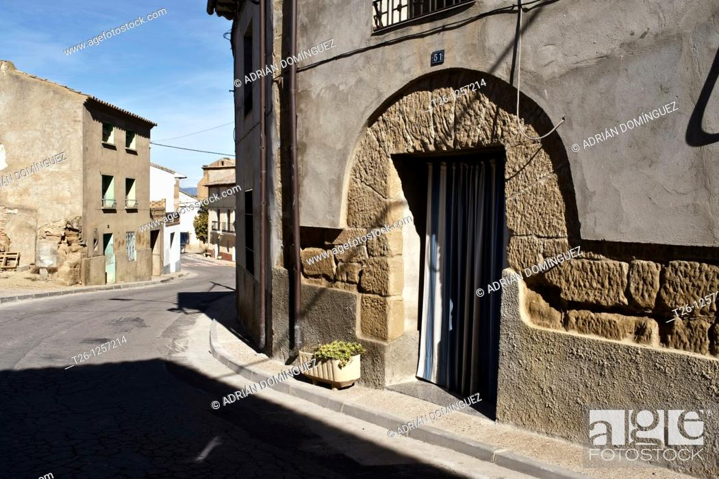 Stock Photo: Corner in a town of Los Monegros. Aragon, Spain.