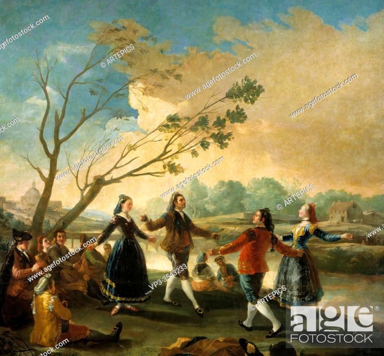 Stock Photo: Francisco De Goya - Dance on the Banks of the Manzanares.