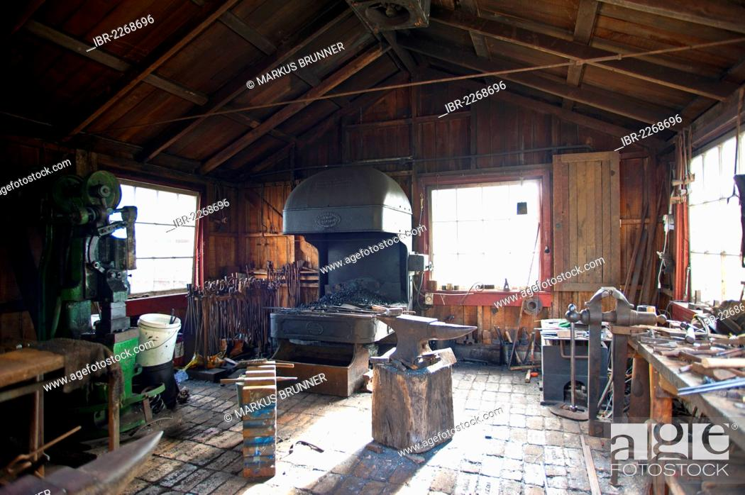 Stock Photo: Old Forge, MOTAT, Museum of Transport and Technology, Auckland, North Island, New Zealand,.