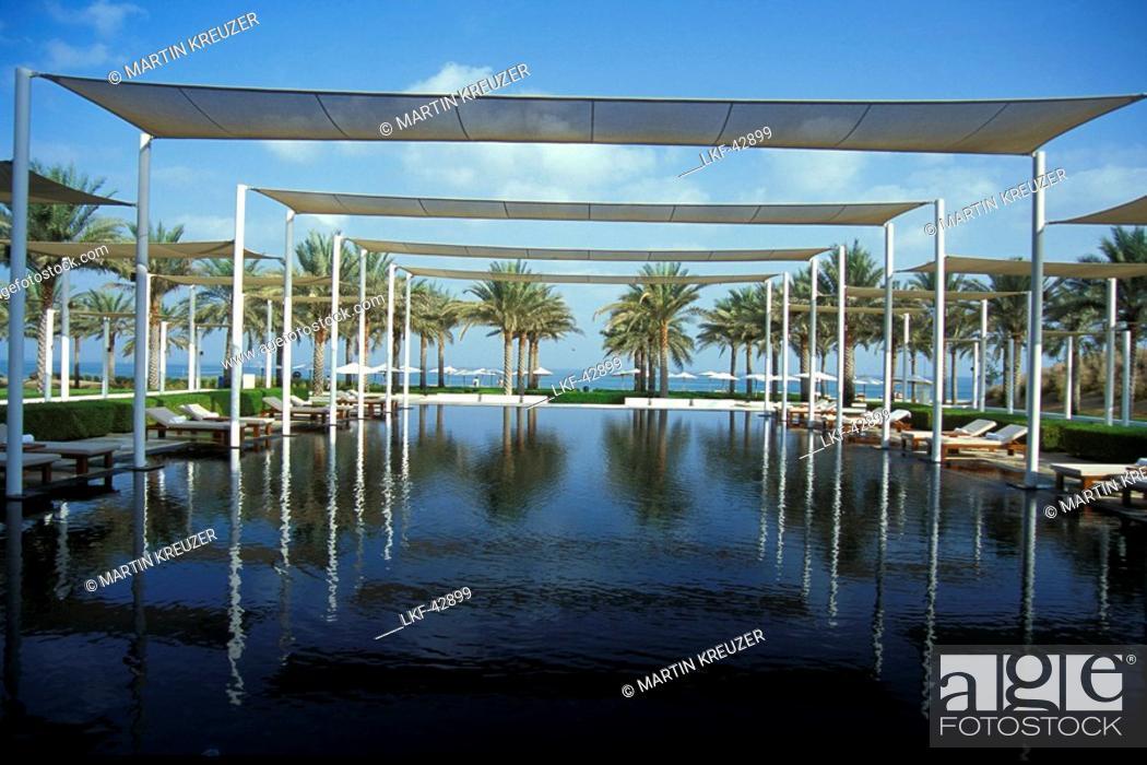 Stock Photo: Serai Pool, The Chedi Hotel, Muscat, Oman.