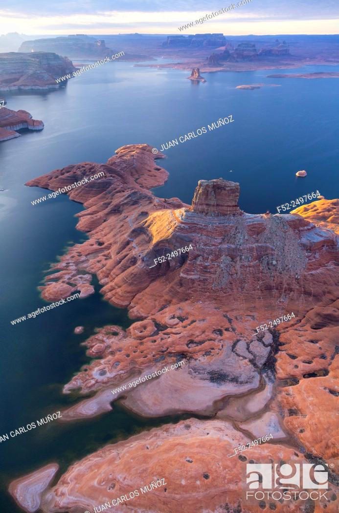 Imagen: Colorado River, Lake Powell, Page, Arizona, Usa, America.