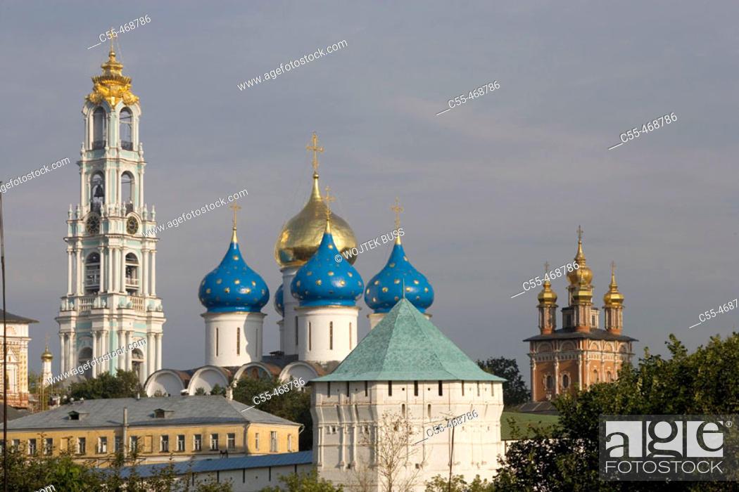 Stock Photo: Holy Trinity-St. Sergius Lavra (monastery), Sergiyev Posad. Golden Ring, Russia.