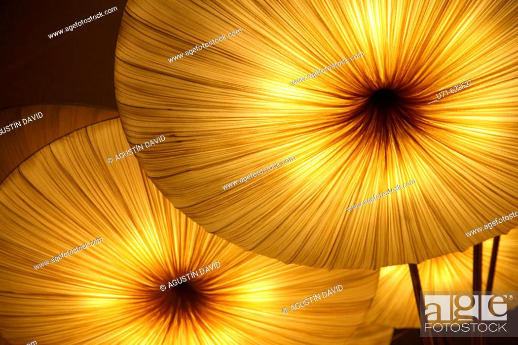 Stock Photo: Mushroom lamps. Valencia. Comunidad Valenciana. Spain.