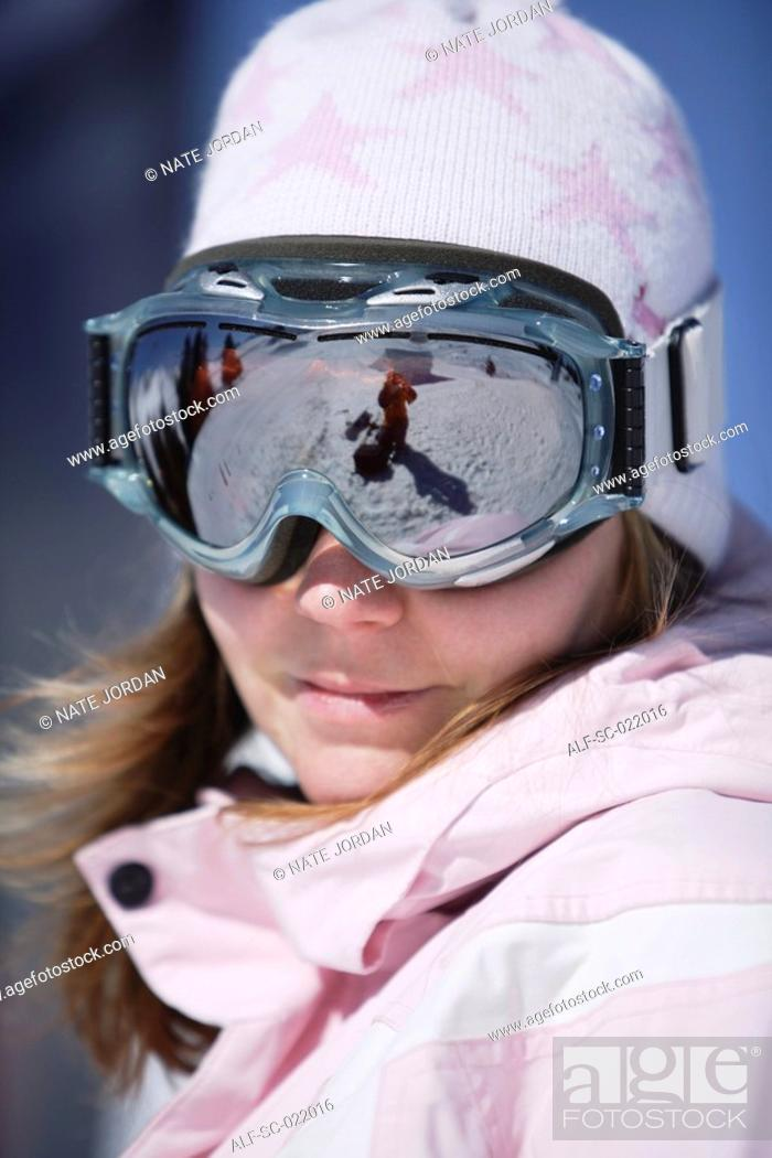 Stock Photo: Portrait Of a Snowboarder.