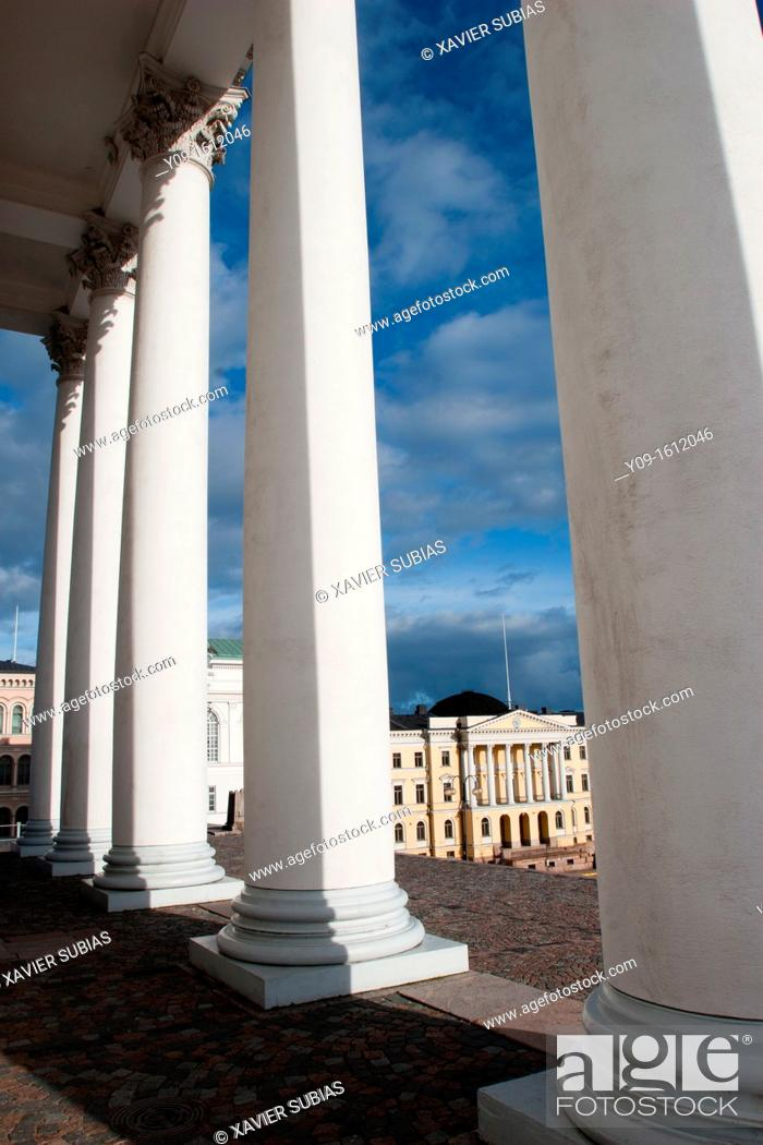 Stock Photo: Government Palace, Helsinki, Uusimaa, Finland.