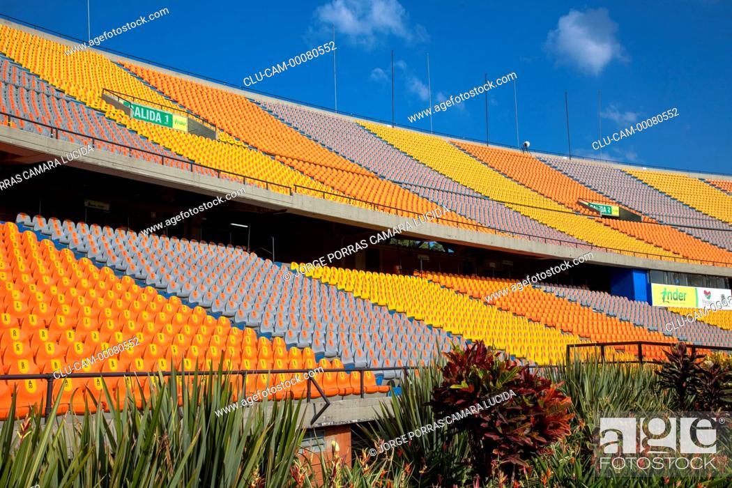 Stock Photo: Atanasio Girardot Stadium, Aburra Valley, Medellin, Antioquia, Colombia.