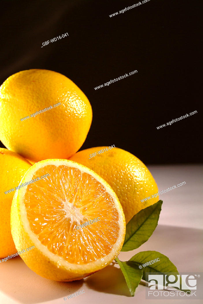 Stock Photo: Food, fruit, orange.