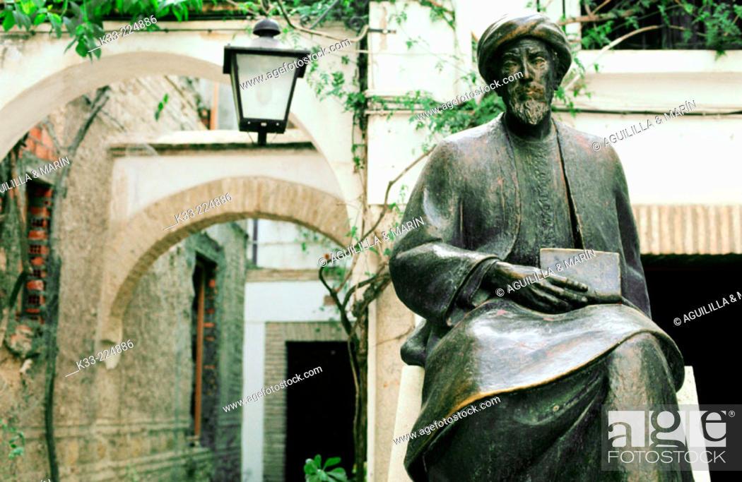Stock Photo: Square of Maimonides in Cordoba. Andalusia. Spain.