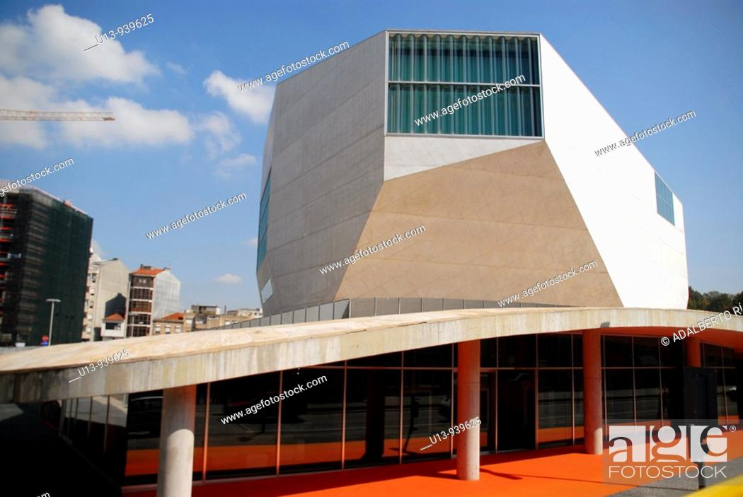 Stock Photo: Casa da Musica concert hall by Rem Koolhaas, Porto, Portugal.