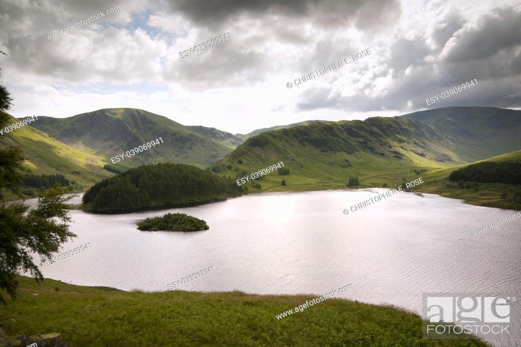 Stock Photo: View over Haweswater reservoir in Mardale valley, Cumbria, UK.