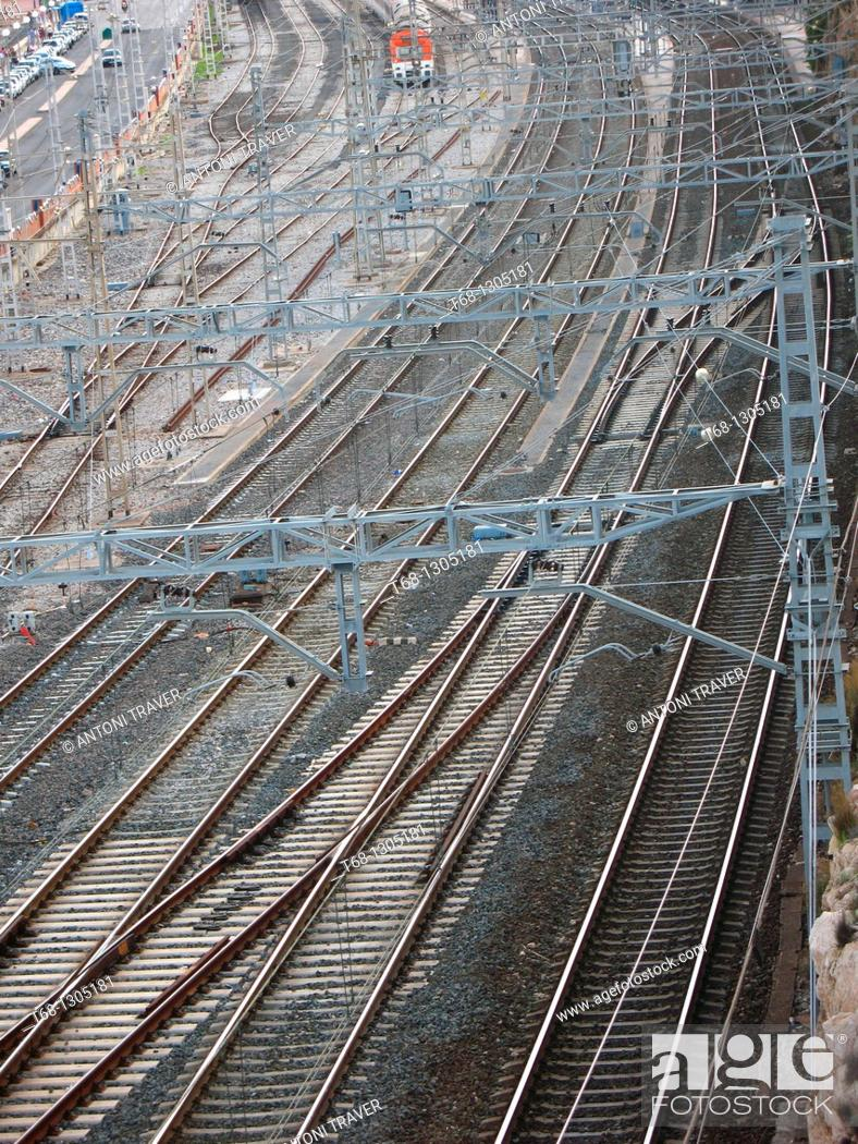 Stock Photo: Railroads, Tarragona, Catalonia, Spain.