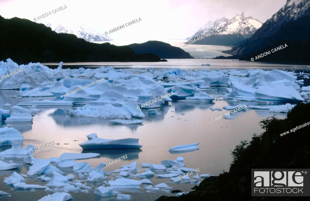 Stock Photo: Grey Glacier. Patagonia, Chile.