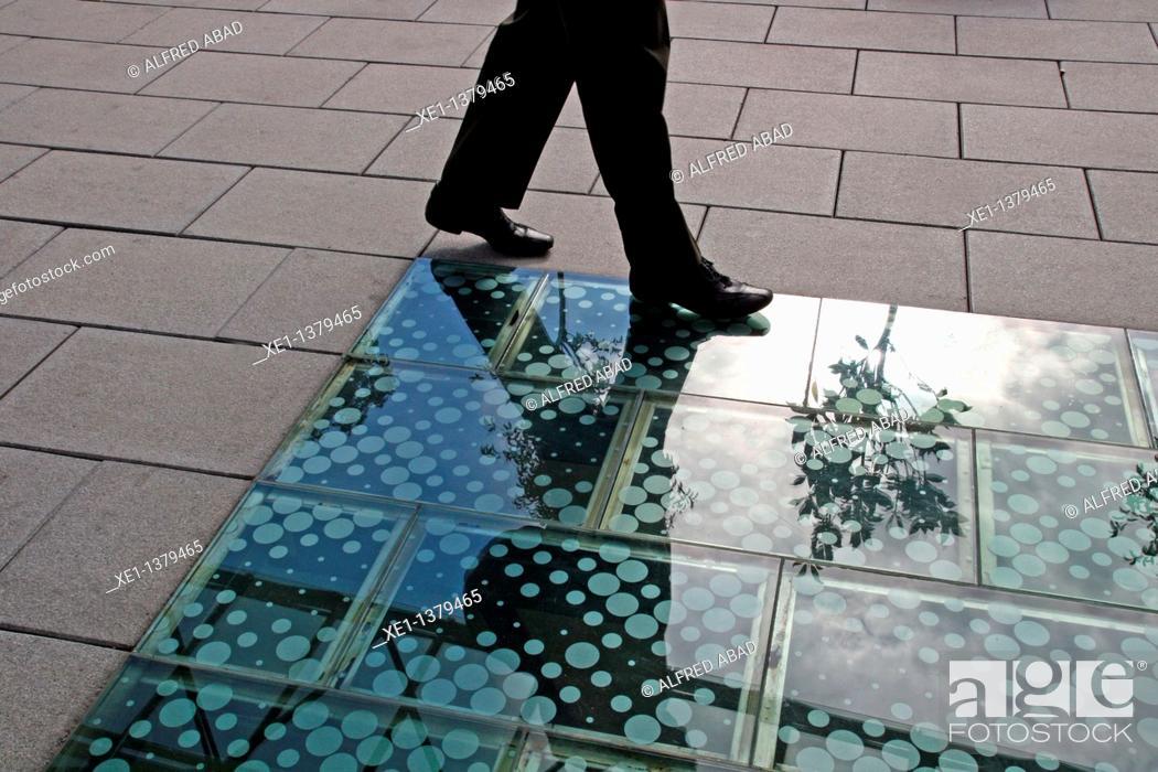 Stock Photo: skylight, Asia hause, Barcelona, Catalonia, Spain.