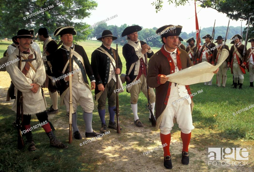 Valley Forge Park, reenactment, soldiers, Valley Forge
