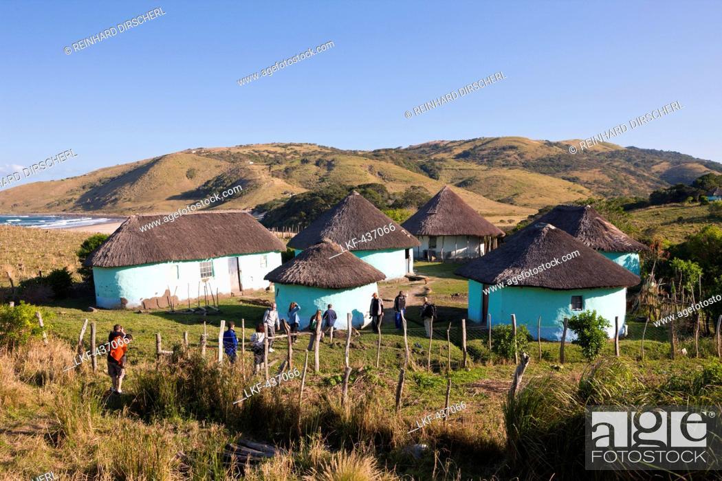 Stock Photo: Xhosa Village at Wild Coast, Mbotyi, Eastern Cap, South Africa.
