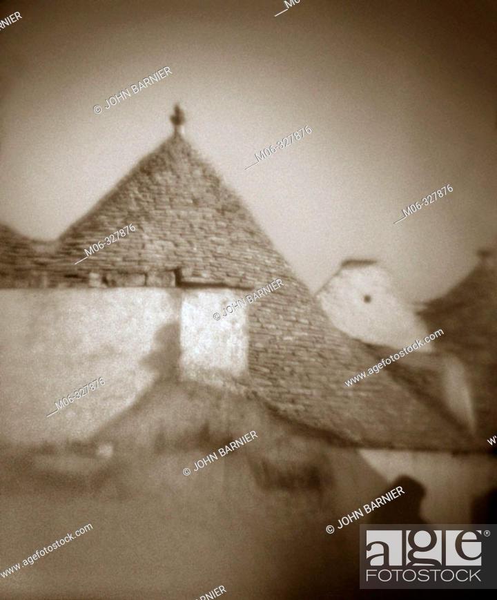 Stock Photo: Trulli (typical stone dwellings). Alberobello. Puglia, Italy.