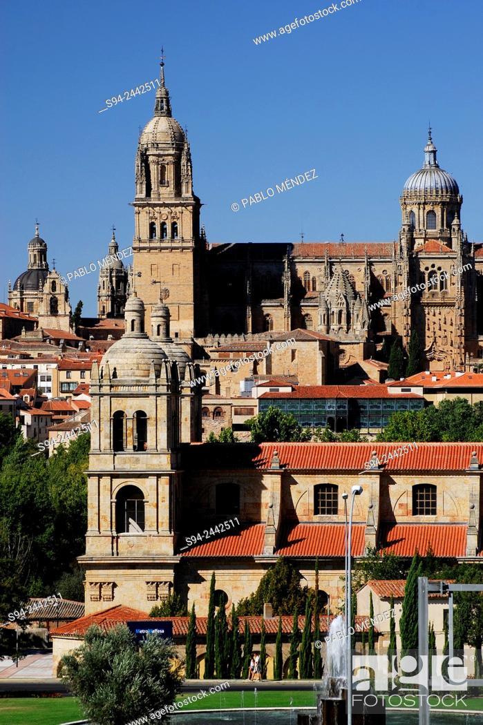 Stock Photo: General view of Salamanca city, Spain.