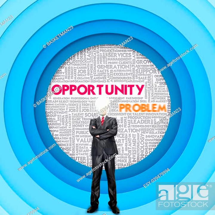 Stock Photo: Business word cloud for business concept, Opportunity.
