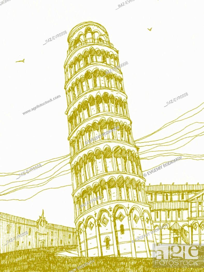 Stock Photo: Leaning Tower of Piza.