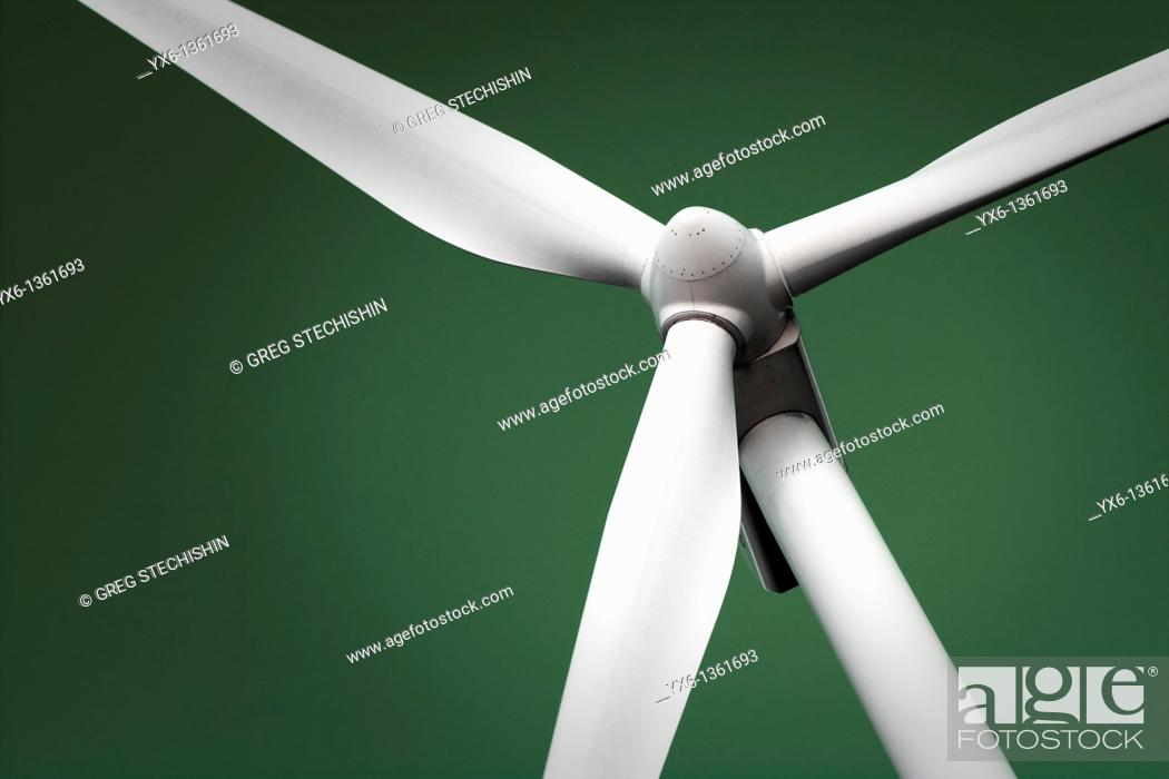 Stock Photo: An abstract of a wind generator.