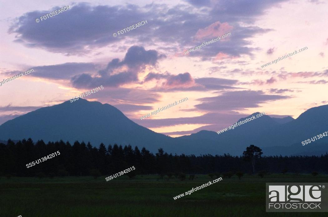 Stock Photo: Odashirogahara Meadows.